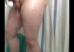 Cumming in shower