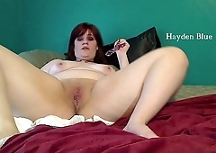 Chubby BBW fucking dildo and cumming