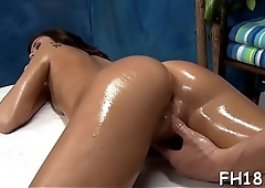 Sexy 18 year old sexy slut gets screwed hard by her massage therapist!