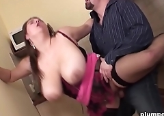 Big babe fucked intense by horny guy with big cock