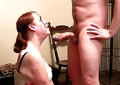 Submissive Missy can'_t stop cumming as she gets her dolled-up face destroyed by throatfucking.