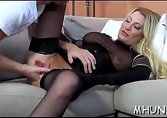 Cold-blooded fuck makes excited milf cum many times