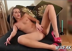 Shlong craving pornstar sensually works her warm beaver