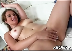Lady with soaked natural boobs knows how to fuck for sure