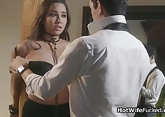 Curvy hotwife punished and fucked in lingerie