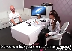 High-class dirty joy is delivered str8 to female agent