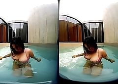 VRpussyVision.com - Girl with big tits in the pool