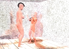 3d animated Amazon Mistress Hillary ballbusting video.