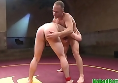 Assfucked hunk wrestling muscular stud