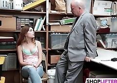 Teen Gets Punished And Father Watching