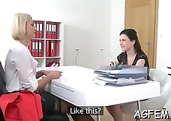 Female agent likes being drilled