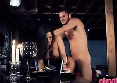 She came for a romantic dinner but got fucked instead