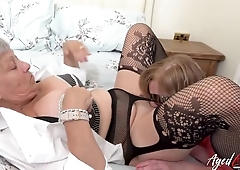 Kinky grannies and oldies enjoy cool group fucking