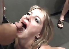 Cump Dump Wife - Bukkake Cinema Swallow - She Swallows All