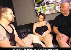 REIFE SWINGER - Gonzo MMF threeway with naughty matures