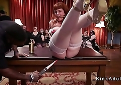 Caning fucking and Sybian riding at orgy party