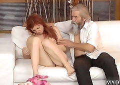 Sweet blonde fucked in the ass Unexpected practice with an older