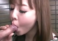 The best of Asian cum in mouth compilation (public)